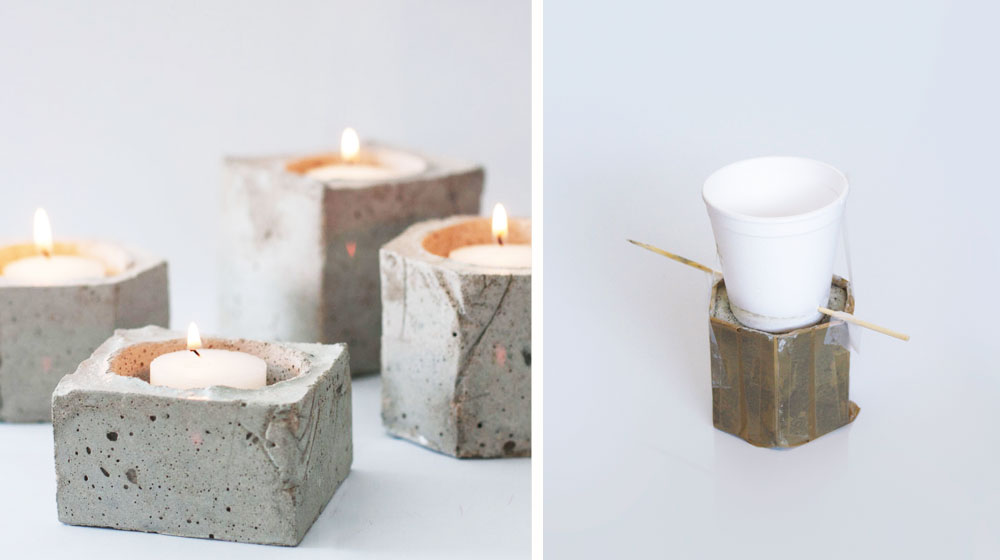 Diy Cement Candle Holders Crush Mag
