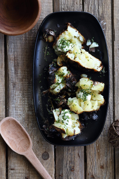 Blackened Charred Potatoes