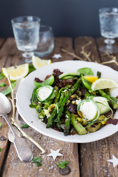 Easter Recipe Round Up Chargrilled Asparagus in Lemon Caper & Pistachio Butter