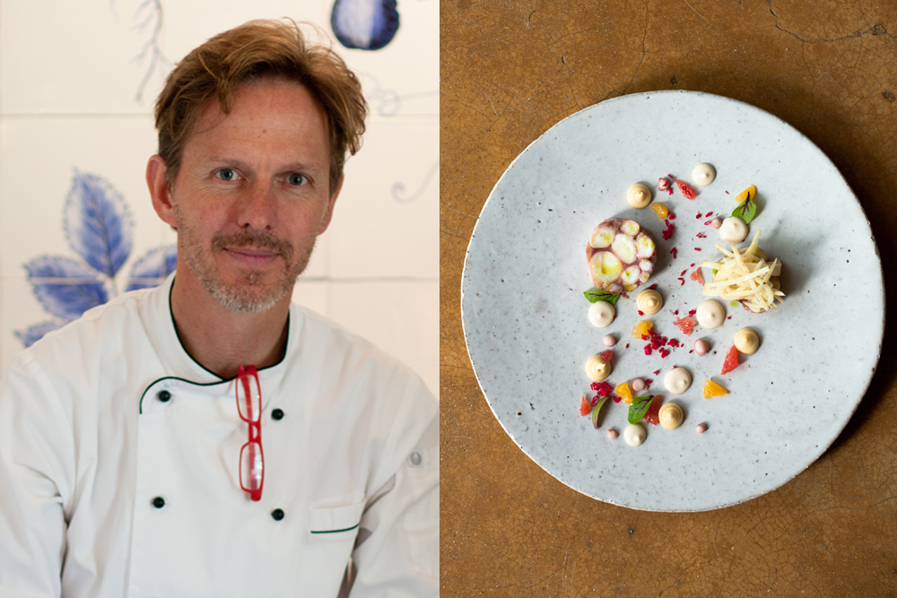 Executive Chef Christiaan Campbell from the Werf, Boschendal