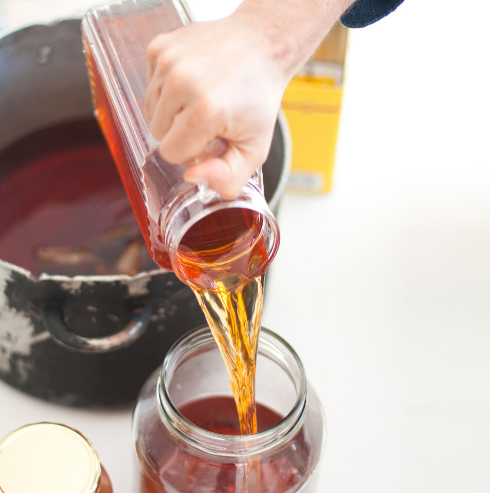 Making rooibos kombucha