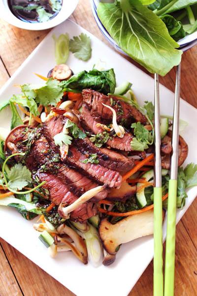 Healthy Eating Asian Steak Salad