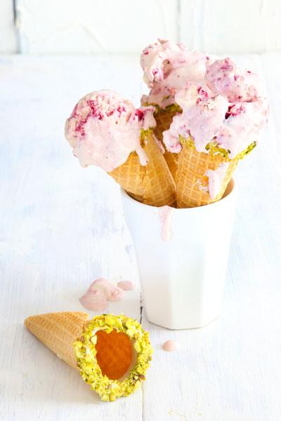 Vanilla Bean and Berry Swirl Ice Cream