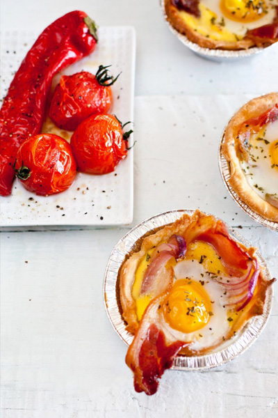 Bacon and Egg Tartlets