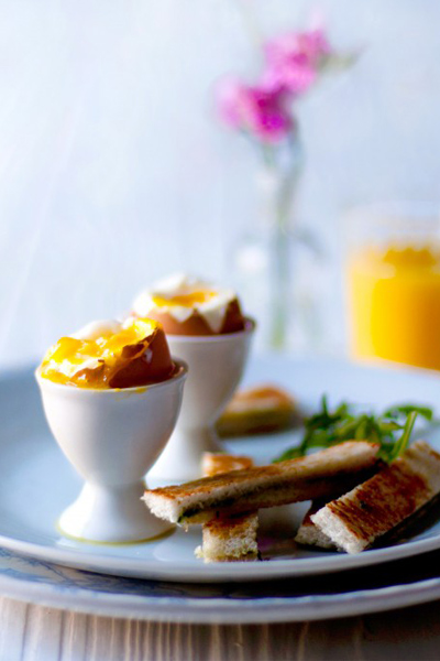 Soft-boiled Eggs with Parmesan & Pesto Soldiers recipe. This is a breakfast you wouldn't want to miss!