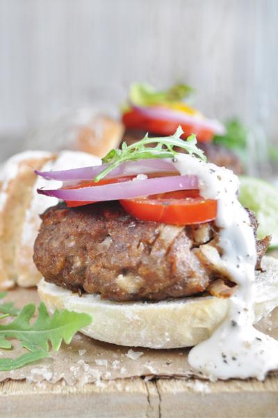 hamburger recipes Mushroom Stuffed Burger