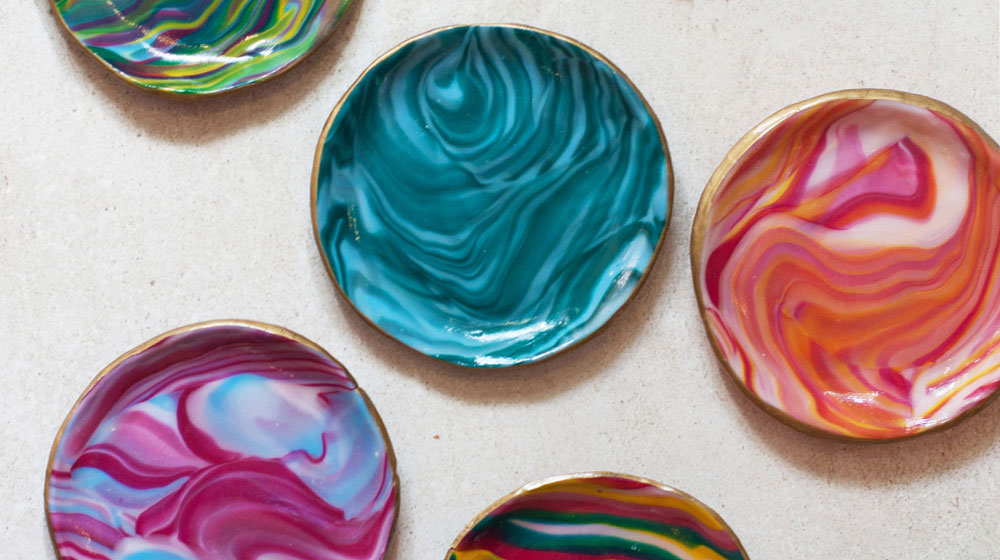 DIY Marbled Clay Bowls | Crush Magazine