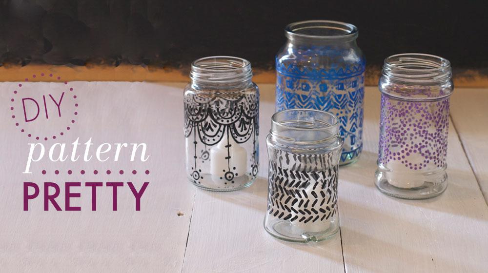 Hand Painted Tea Light Jars | Crush Magazine
