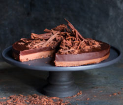 double-chocolate ganache-tart