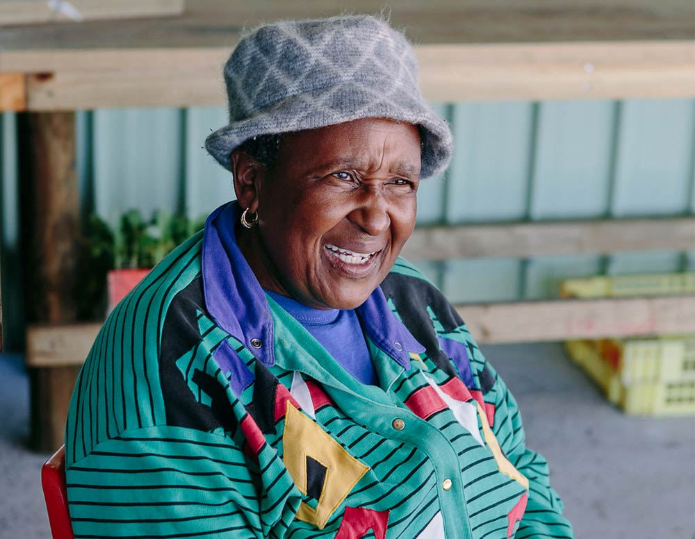 Mama-Nancy Moyo We Khaya food garden