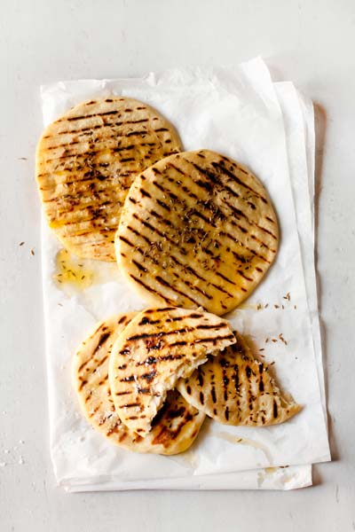 Vegetarian Braai Recipes - cumin seed flat breads