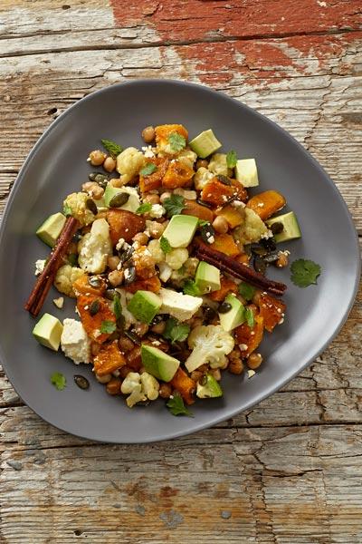 Roasted Butternut Cauliflower salad healthy lunch ideas for work