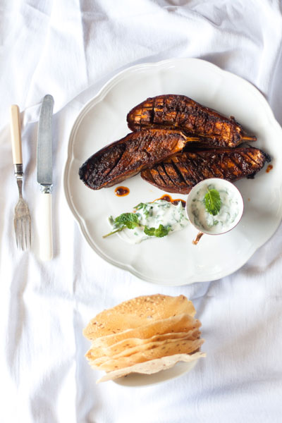 vegetarian braai recipes tandoori aubergines