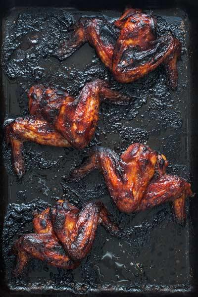 Halloween Food - spicy batwings