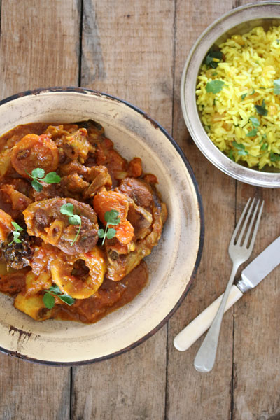 Fruity lamb curry