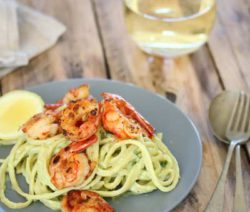 Avo and Prawn pasta