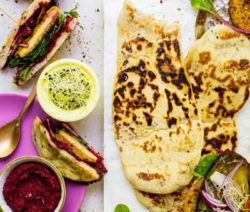 Naan and beetroot Sandwich