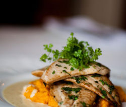 Pan-fried-Angel-fish-recipe-with-Carrot-Purée-and-a-Cumin-and-Orange-Velouté-4x6