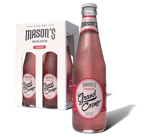 Mason Cosmo Cocktails in a bottle, introducing Original Mason's