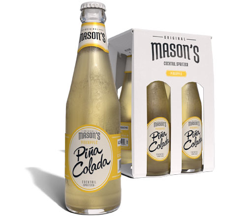 Mason Pina Colada Cocktails in a bottle, introducing Original Mason's