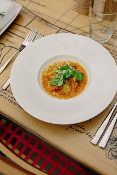 Gluten-Free Sweet Potato Gnocchi with a Napoli Sauce