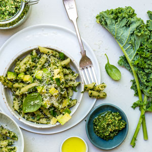 Penne Pasta with Kale Pesto