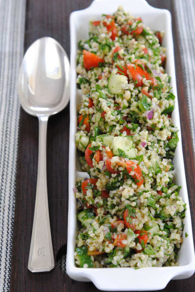 easy vegan recipes bulgur wheat salad