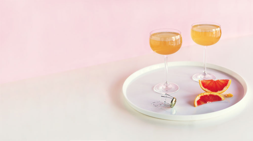 romantic dinner recipe pink french 75