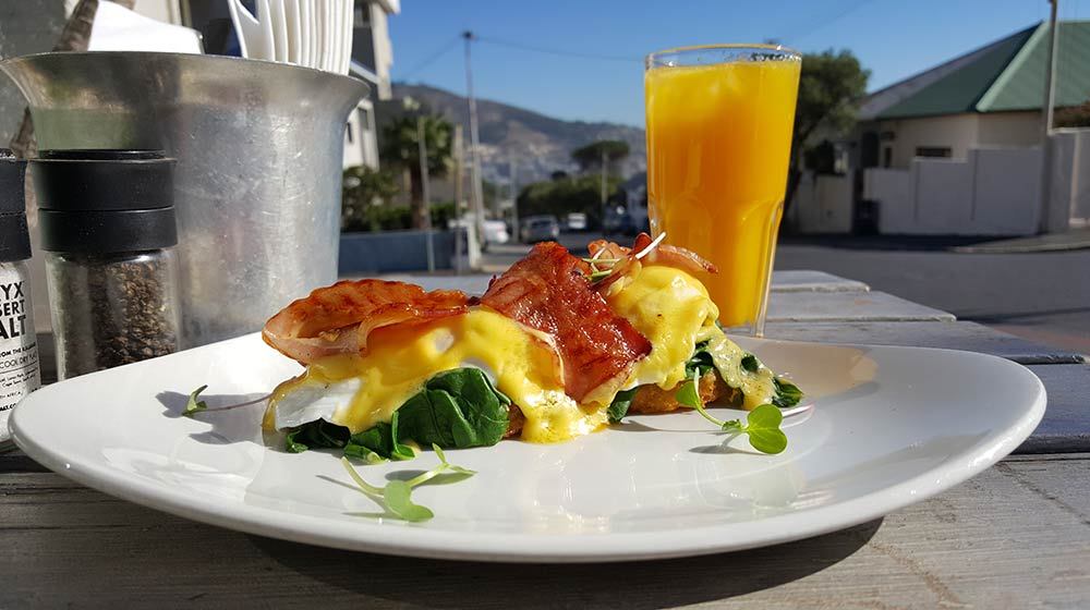 eggs benedict cape town