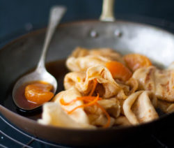 French Food crepes-suzette