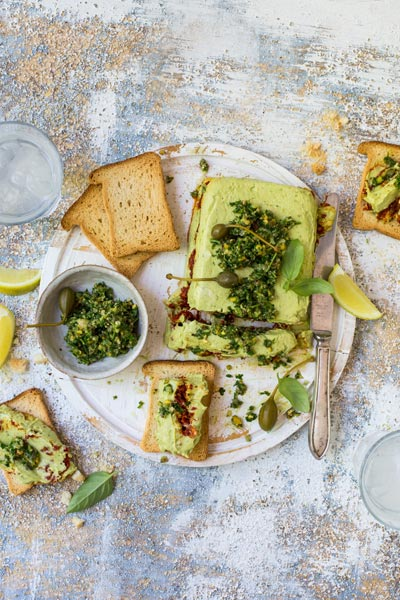 different ways to use guacamole - guacamole terrine