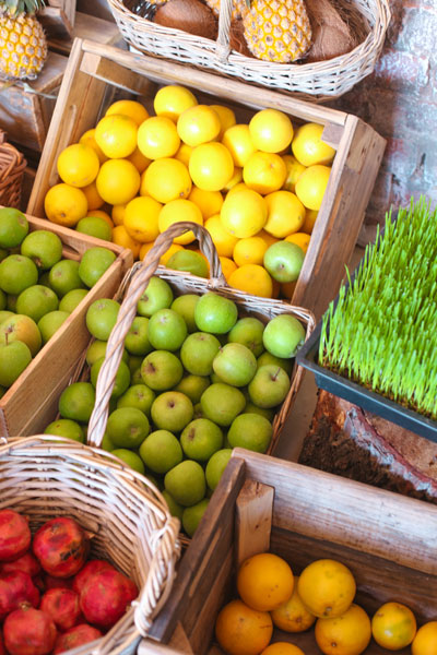 Fresh produce at Nourish'd Café and Juicery in Gardens, Cape Town