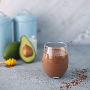 chocolate and avocado smoothie