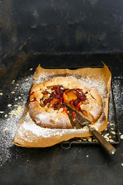Plum Galette with Almond Pastry