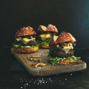 Funky Lamb and Mushroom Sliders