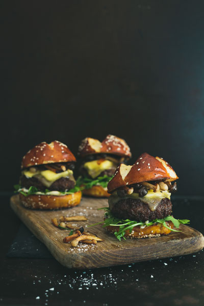 Lamb and Mushroom Sliders