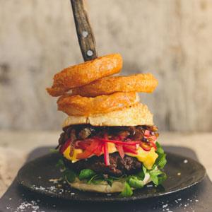Onion Overload Beef Burger
