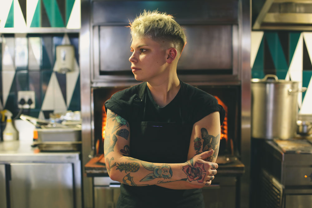 Cape Town chefs and their tattoos - Ash Heeger_owner & Head Chef in the Kitchen at ASH