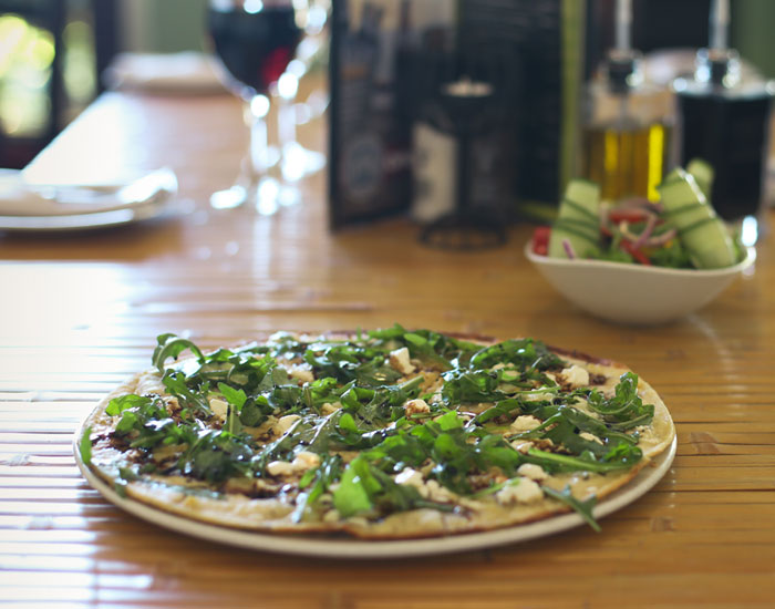 EAT Restaurant in the Hemel and Aarde Village serves a great pizza