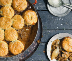 Oxtail Pie With Scones