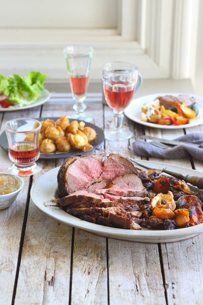 Easter Recipe Round Up Roast Deboned Leg of Lamb Stuffed Dates