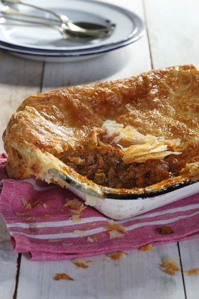 Steak and Kidney Chakalaka Pie