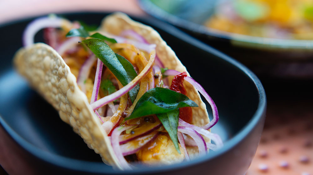 Fish Taco by Chef John van Zyl of Thali Restaurant