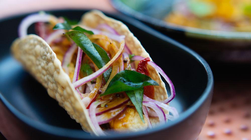 Fish Taco by Chef John van Zyl of Thali Restaurant