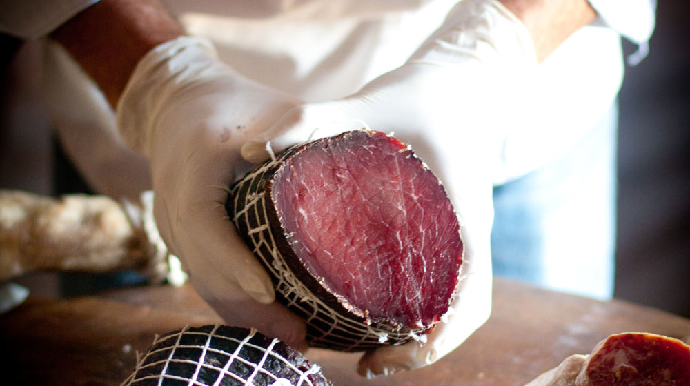cured meats beef bresola