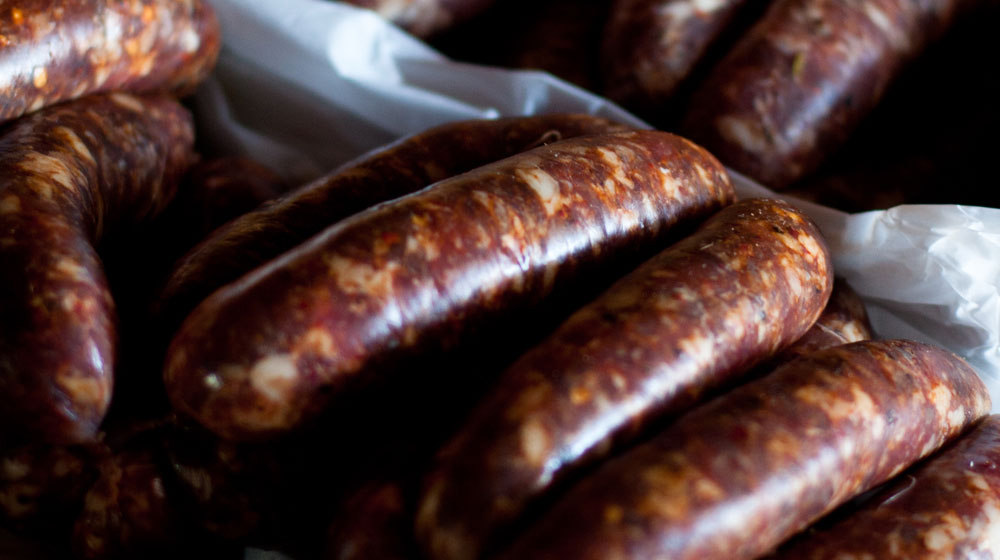 cured meats chorizo