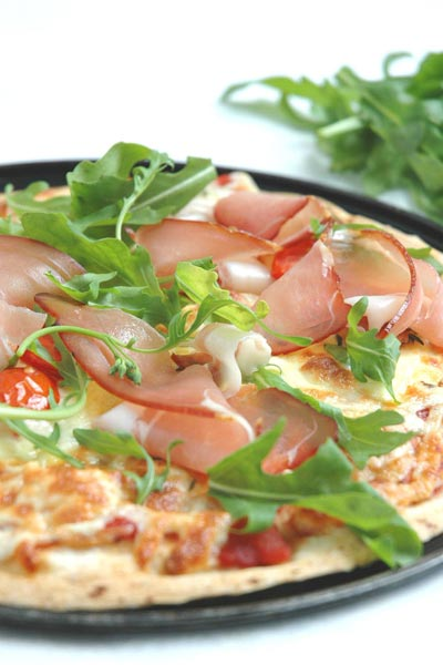 Best Cheese Recipes Wholewheat Prosciutto & Cheese Pizzas