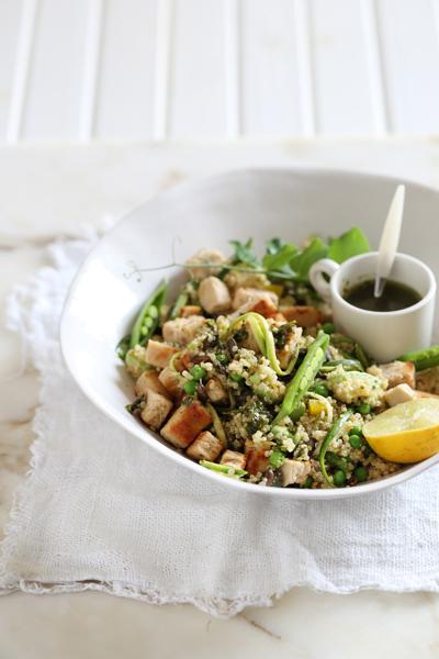 Lime Quinoa Salad with Chimichurri