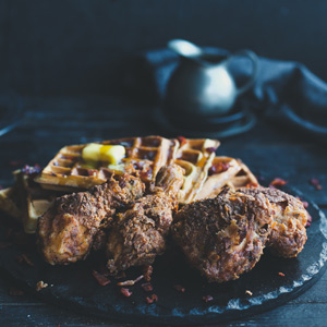 Miele-Southern-Fried-Chicken-and-Waffles