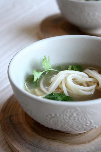 types of Asian cuisine - chicken miso and noodle soup